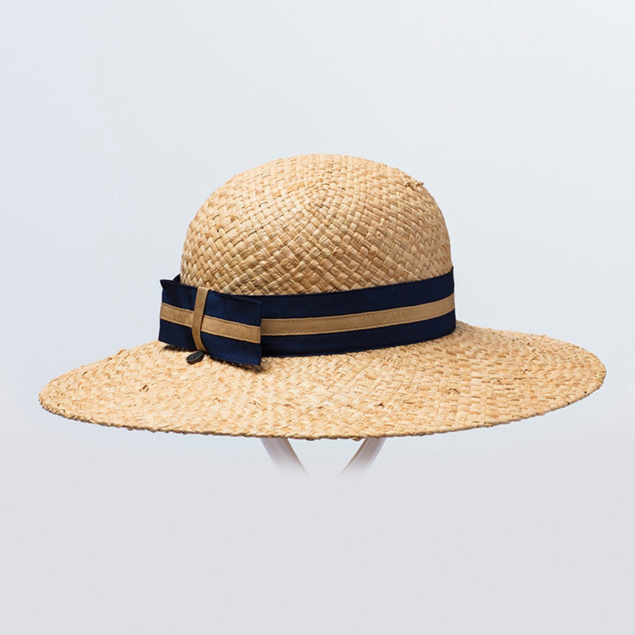 CLAIRINA CLOCHE HAT IN STRAW