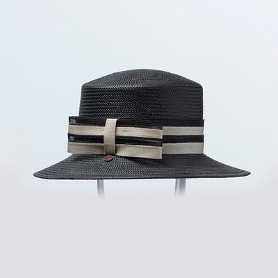 CLENCY FEDORA IN PAPER STRAW GOLF  2100 BLACK 53