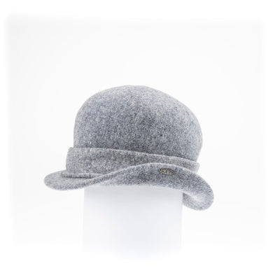 OKENA - ORMOS CLOCHE HAT WITH SIDE RISE GOLF  8200 HEATHER GREY O/S