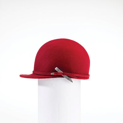 WILMA - WATERPROOF FELT CAP HAT GOLF  5800 RED 58