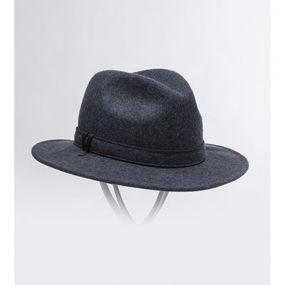 WILL - UNISEX WATERPROOF FELT FEDORA HAT GOLF  2600 CHARCOAL 61