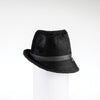 FABIA - FUR FELT FEDORA WITH SIDE RISE GOLF  2100 BLACK 59