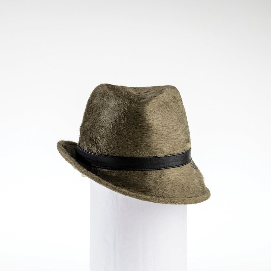 FABIA - FUR FELT FEDORA WITH SIDE RISE