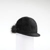 CHALLIE - FUR FELT CAP WITH SIDE POM GOLF  2100 BLACK 58
