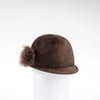 CHALLIE - FUR FELT CAP WITH SIDE POM GOLF  6900 COFFEE 58