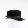 NADIA - FELT CAP WITH LEATHER BAND AND BOW AT BACK GOLF  2100 BLACK 58