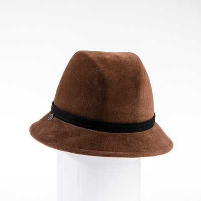 CAMEO - FUR FELT CLOCHE WITH BAND GOLF  6900 COFFEE 59
