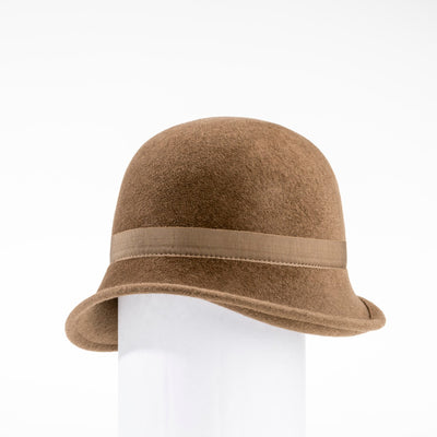 CHLORIS - FUR FELT CLASSIC CLOCHE GOLF  2400 CAMEL 58