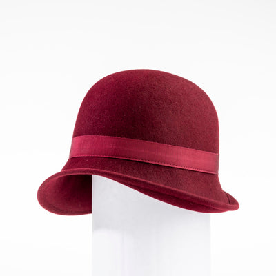 CHLORIS - FUR FELT CLASSIC CLOCHE GOLF  5800 RED 58