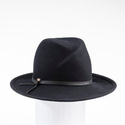FARRAH - CROSSOVER FEDORA WITH LEATHER BAND GOLF  2100 BLACK 59