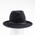 FARRAH - CROSSOVER FEDORA WITH LEATHER BAND