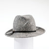 FARRAH - CROSSOVER FEDORA WITH LEATHER BAND GOLF  8200 HEATHER GREY 59