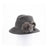 """FABS - FUR FELT SMALL FEDORA HAT, FUR TRIM AND SWAROVSKI"""