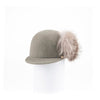 CHARM - CAP HAT IN FUR FELT WITH LARGE SIDE POMPOM GOLF  6600 SILVER 58