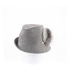 FAVE - FUR FELT FEDORA HAT WITH SIDE RISE AND UPCYCLED FUR GOLF  7900 GREY 58