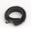UPCYCLED FUR BRACELET GOLF  2121 BLACK MINK O/S