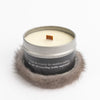 TRAVEL CANDLE WITH UPCYCLED FUR