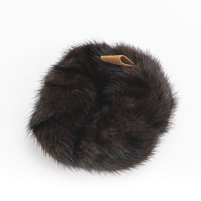 HAIR CHOUCHOU WITH UPCYCLED FUR GOLF  2100 BLACK O/S