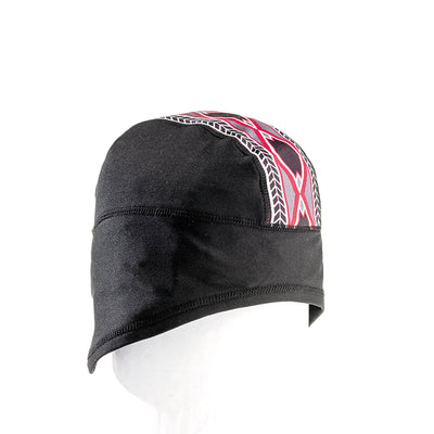 MIDDLE JACQUARD BEANIE BASELAYER GOLF  2158 BLACK-RED O/S