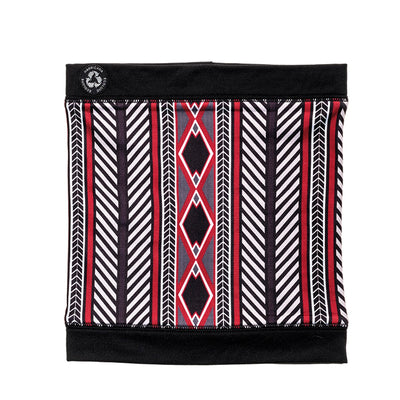 MIDDLE JACQUARD NECKWARMER GOLF  2158 BLACK-RED O/S