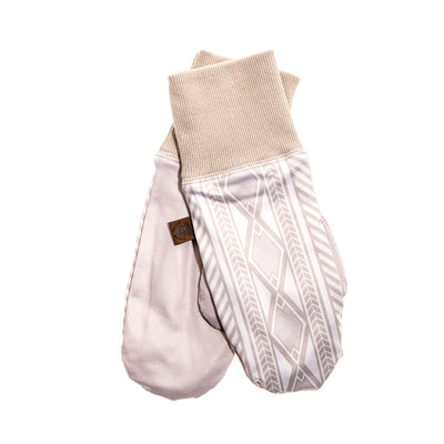 MIDDLE JACQUARD MITT GOLF  0900 BEIGE O/S