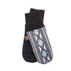MIDDLE JACQUARD MITT GOLF  2179 BLACK-GREY O/S