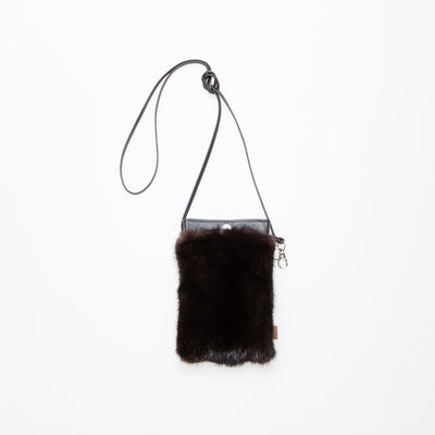 IPHONE POCKET CLASSIC - UPCYCLED FUR GOLF  5600 DARK MINK O/S