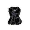 REUSED FUR VEST GOLF  2100 BLACK L