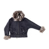 JACKET WITH REUSED FUR GOLF  4500 NAVY BLUE L