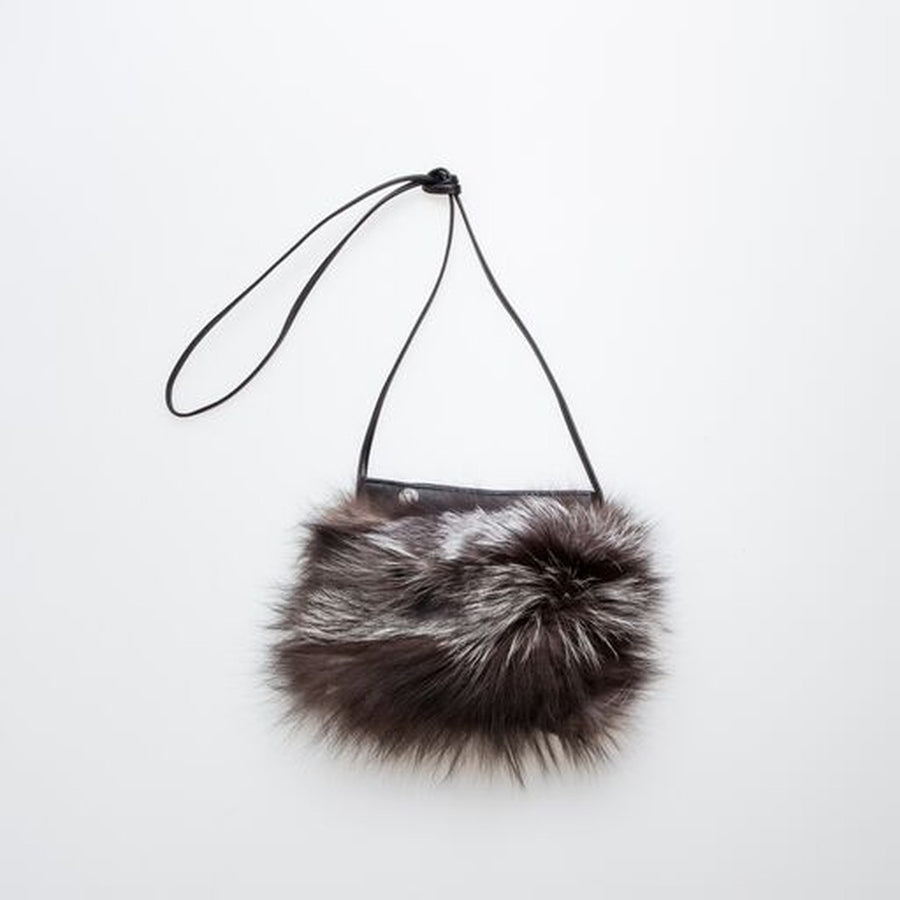 IPHONE POCKET HORIZONTAL WITH UPCYCLED FUR
