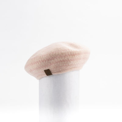 JACQUARD BERET HAT GOLF  6100 BLUSH MIX O/S