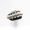 CHUNKY SKI KNIT BERET HAT GOLF  2100 BLACK MIX O/S