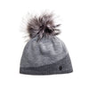 ASYMMETRIC BEANIE WITH REUSED FUR POM GOLF  7900 GREY MIX O/S