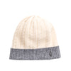 CASHMERE CABLE BEANIE GOLF  1300 IVORY-GREY O/S