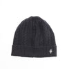 CASHMERE CABLE BEANIE GOLF  2100 BLACK O/S