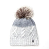 MIX KNIT BEANIE WITH UPCYCLED FUR POM GOLF  7900 GREY MIX O/S