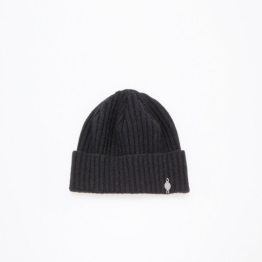 RECYCLED CASHMERE BEANIE FASHION  2100 BLACK O/S