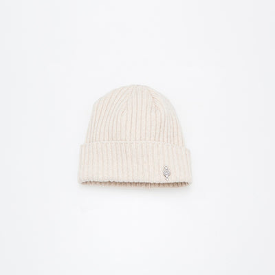 RECYCLED CASHMERE BEANIE GOLF  4900 CREAM O/S