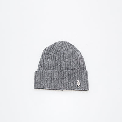 RECYCLED CASHMERE BEANIE GOLF  7900 GREY O/S