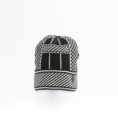JACQUARD BEANIE GOLF  2100 BLACK MIX O/S