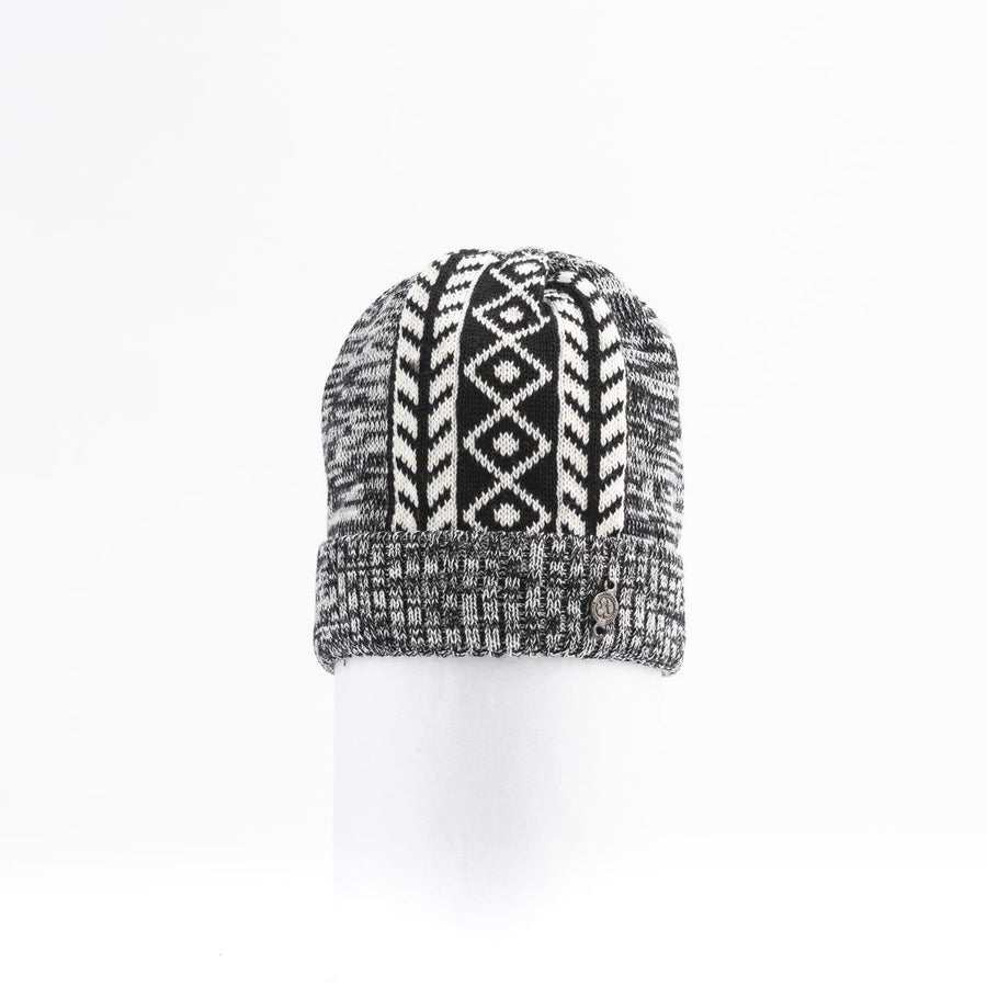 MIDDLE JACQUARD BEANIE GOLF  2100 BLACK MIX O/S
