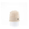 RECYCLED CASHMERE CABLE BEANIE GOLF  0900 BEIGE O/S