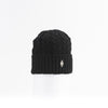 RECYCLED CASHMERE CABLE BEANIE GOLF  2100 BLACK O/S