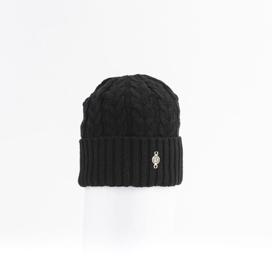 RECYCLED CASHMERE CABLE BEANIE