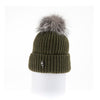 CLASSIC BEANIE WITH UPCYCLED FUR POM GOLF  9800 KHAKI ONE SIZE