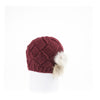 BRAIDED BEANIE WITH UPCYCLED FUR GOLF  5800 RED ONE SIZE