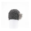 BRAIDED BEANIE WITH UPCYCLED FUR GOLF  7900 GREY ONE SIZE