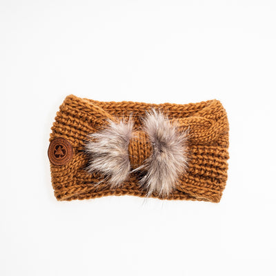 CHUNKY HEADBAND WITH UPCYCLED FUR