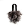 EARMUFFS WITH REUSED FUR FASHION  7900 SILVER FOX O/S