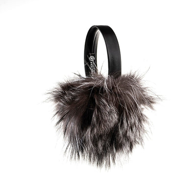 EARMUFFS WITH UPCYCLED FUR GOLF  7900 SILVER FOX O/S